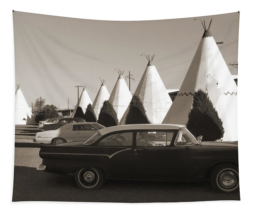 Americana Tapestry featuring the photograph Staying At The Wigwam 2 by Mike McGlothlen