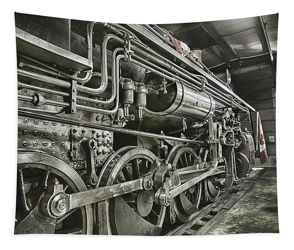 Steam Tapestry featuring the photograph Steam Locomotive 2141 by Theresa Tahara