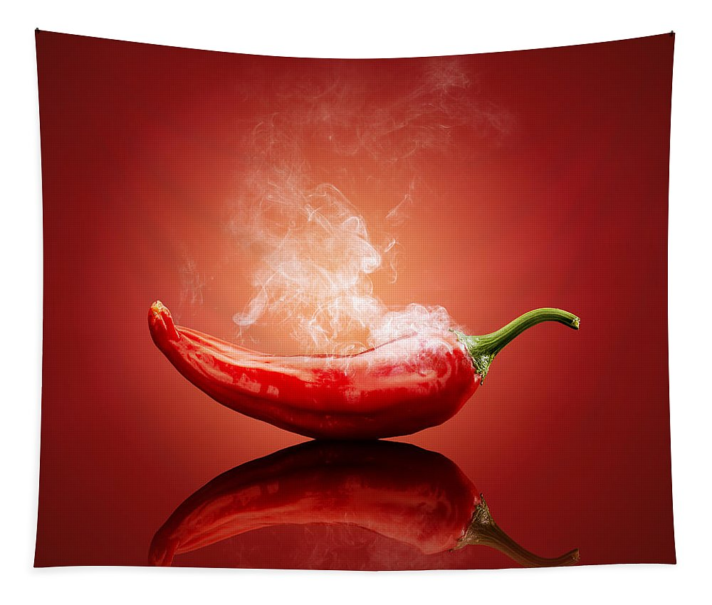 Chilli Tapestry featuring the photograph Steaming Hot Chilli by Johan Swanepoel
