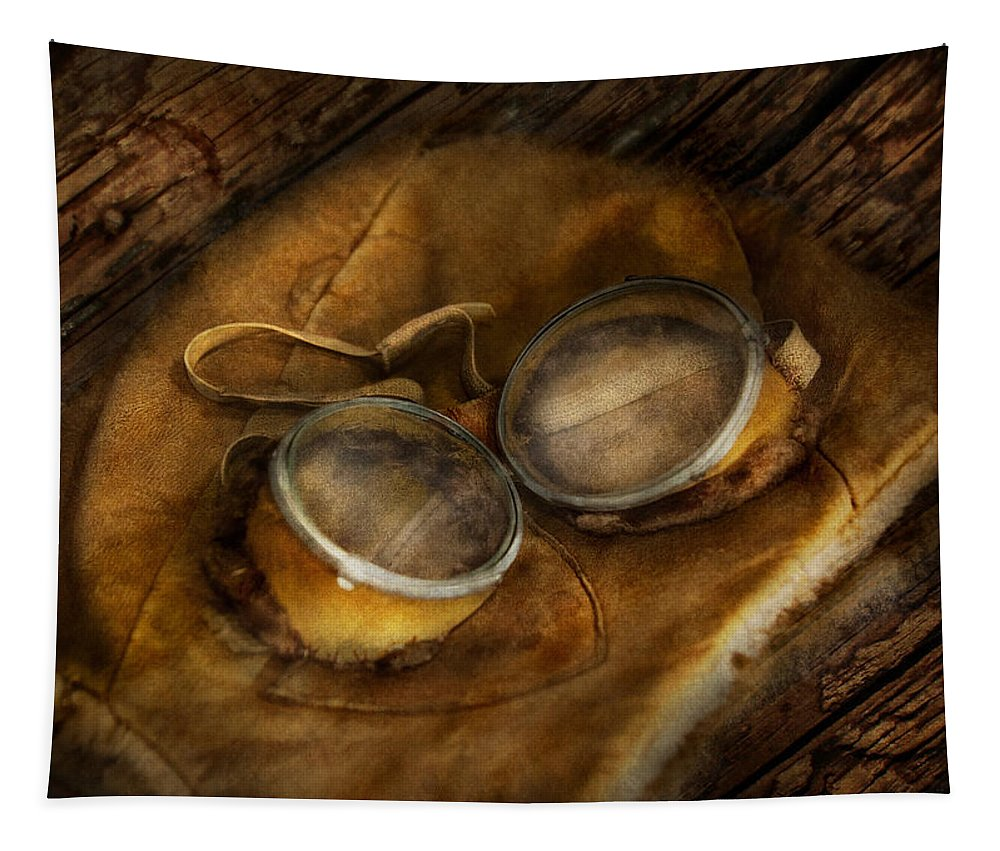 Hdr Tapestry featuring the photograph Steampunk - Hey Fly-boy by Mike Savad