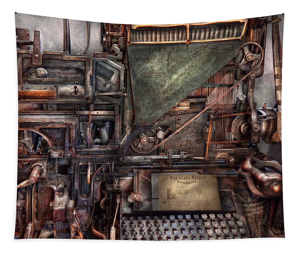 Steampunk Tapestry featuring the photograph Steampunk - Machine - All The Bells And Whistles by Mike Savad