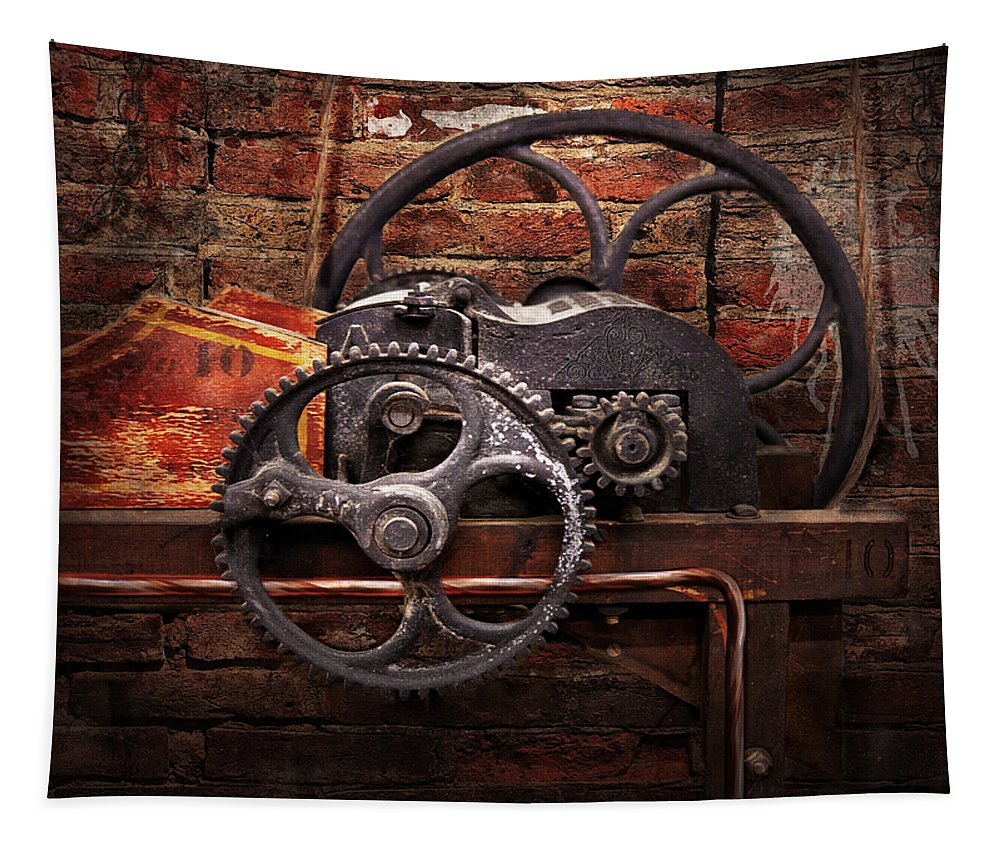 Hdr Tapestry featuring the digital art Steampunk - No 10 by Mike Savad