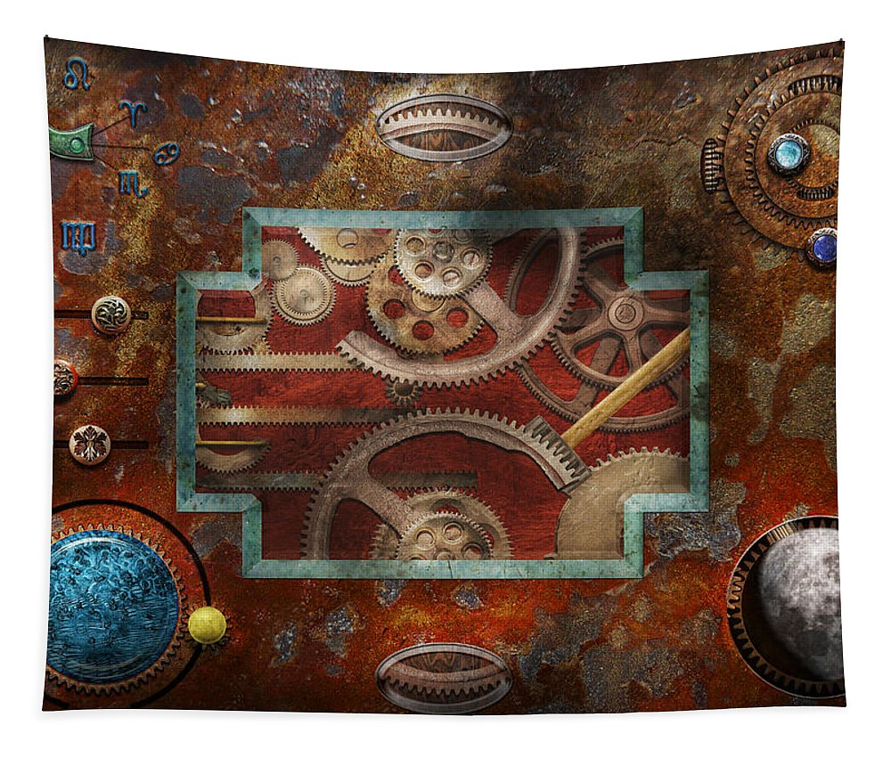 Hdr Tapestry featuring the photograph Steampunk - Pandora's Box by Mike Savad