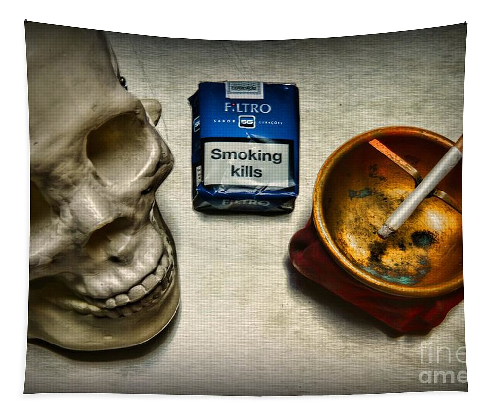 Paul Ward Tapestry featuring the photograph Steampunk Smoking Break by Paul Ward