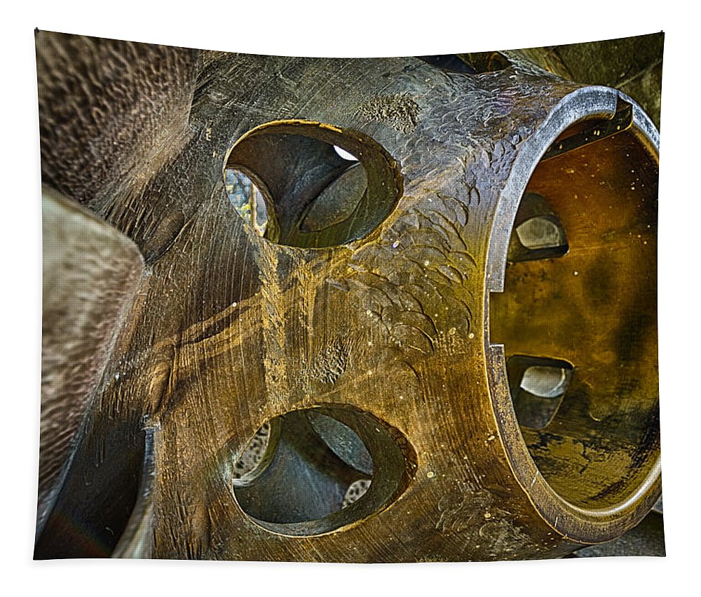 Steampunk Tapestry featuring the photograph Steampunk Turbine by Scott Campbell