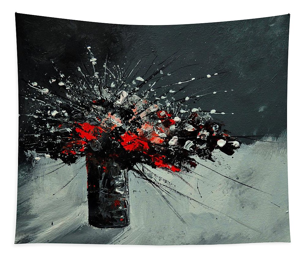Still Life Tapestry featuring the painting Still Life 5551 by Pol Ledent