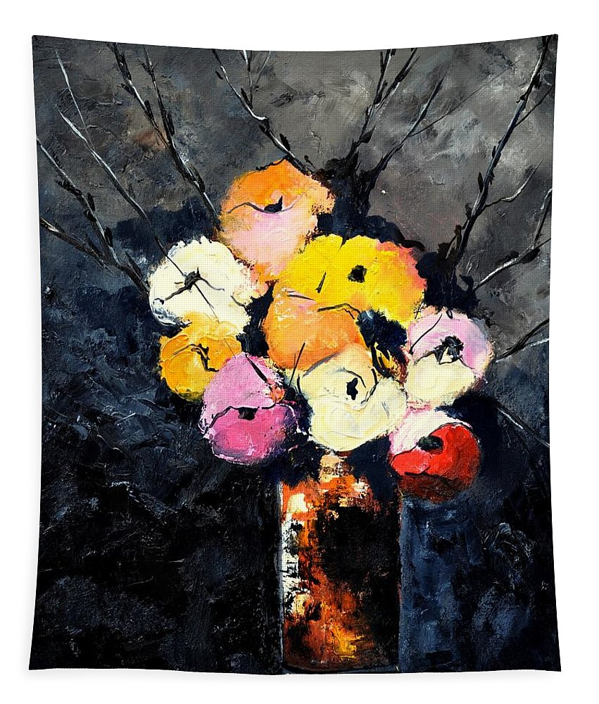 Stil Life Tapestry featuring the painting Still Life 563160 by Pol Ledent