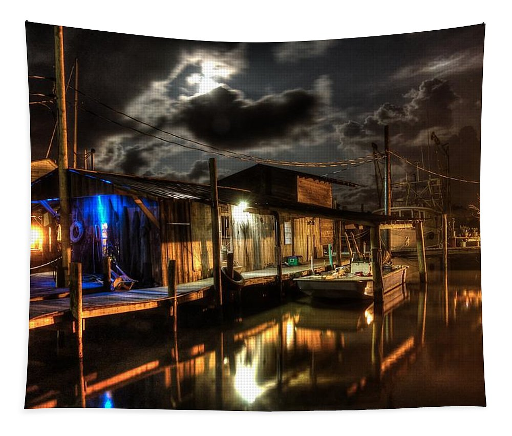 Alabama Tapestry featuring the digital art Still Marina by Michael Thomas