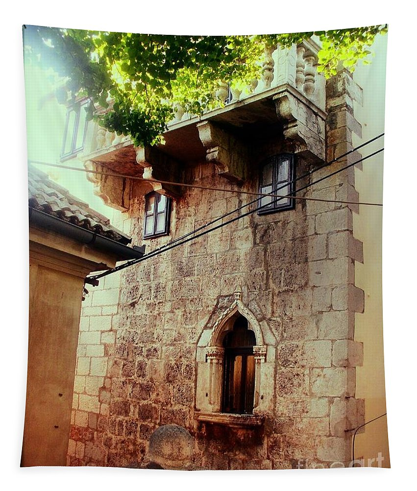 Stone House Tapestry featuring the photograph Stone House by Nina Ficur Feenan
