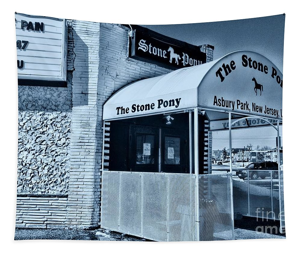 Paul Ward Tapestry featuring the photograph Stone Pony Cool Blue by Paul Ward
