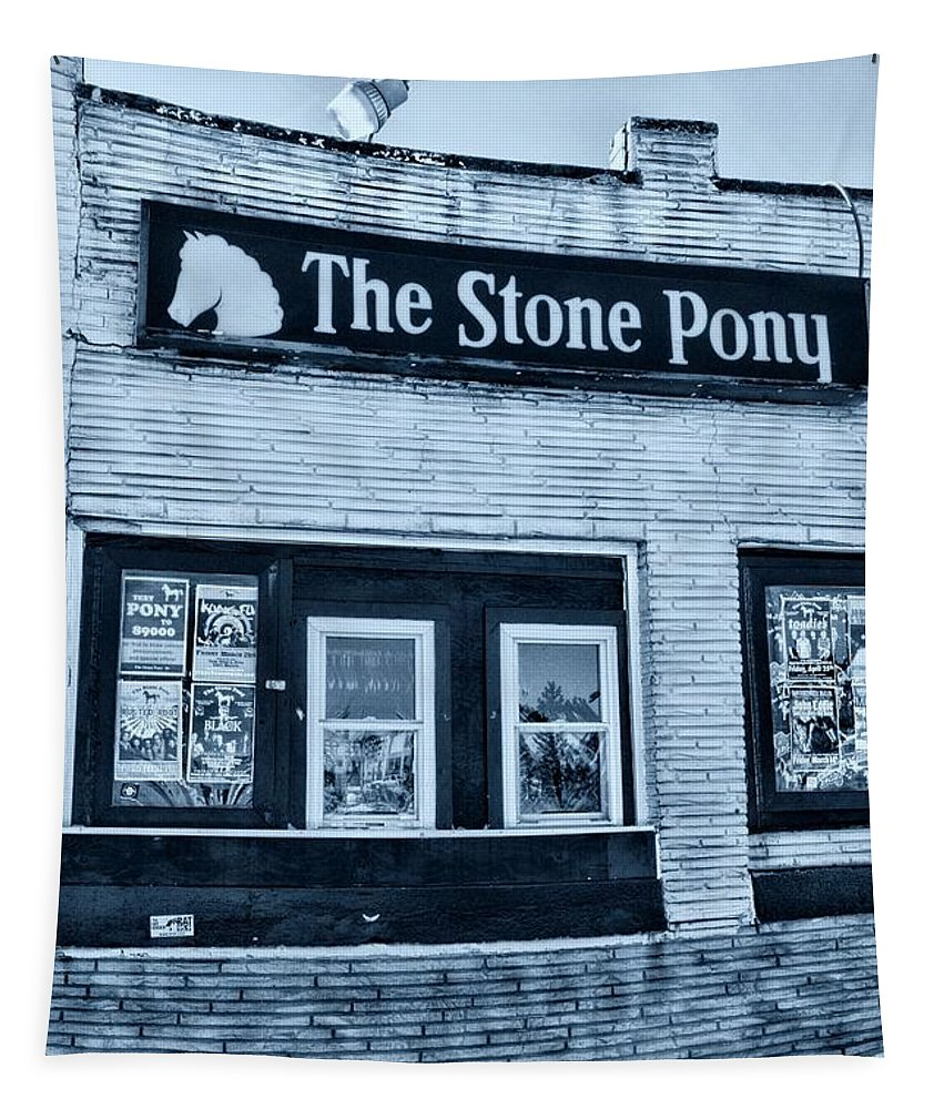Paul Ward Tapestry featuring the photograph Stone Pony Cool Side View by Paul Ward