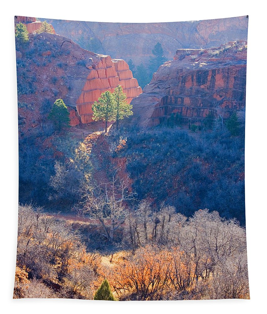 Bluffs Tapestry featuring the photograph Stone Quarry At Red Rocks Open Space by Steve Krull