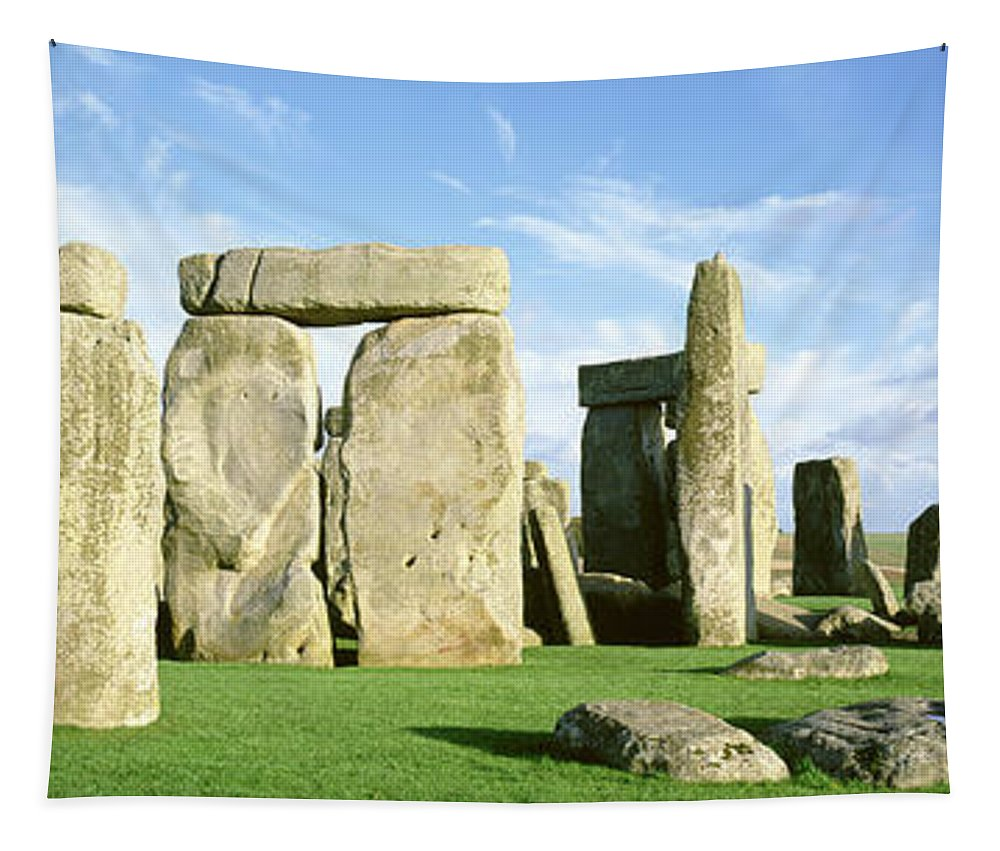 Photography Tapestry featuring the photograph Stonehenge, Wiltshire, England, United by Panoramic Images