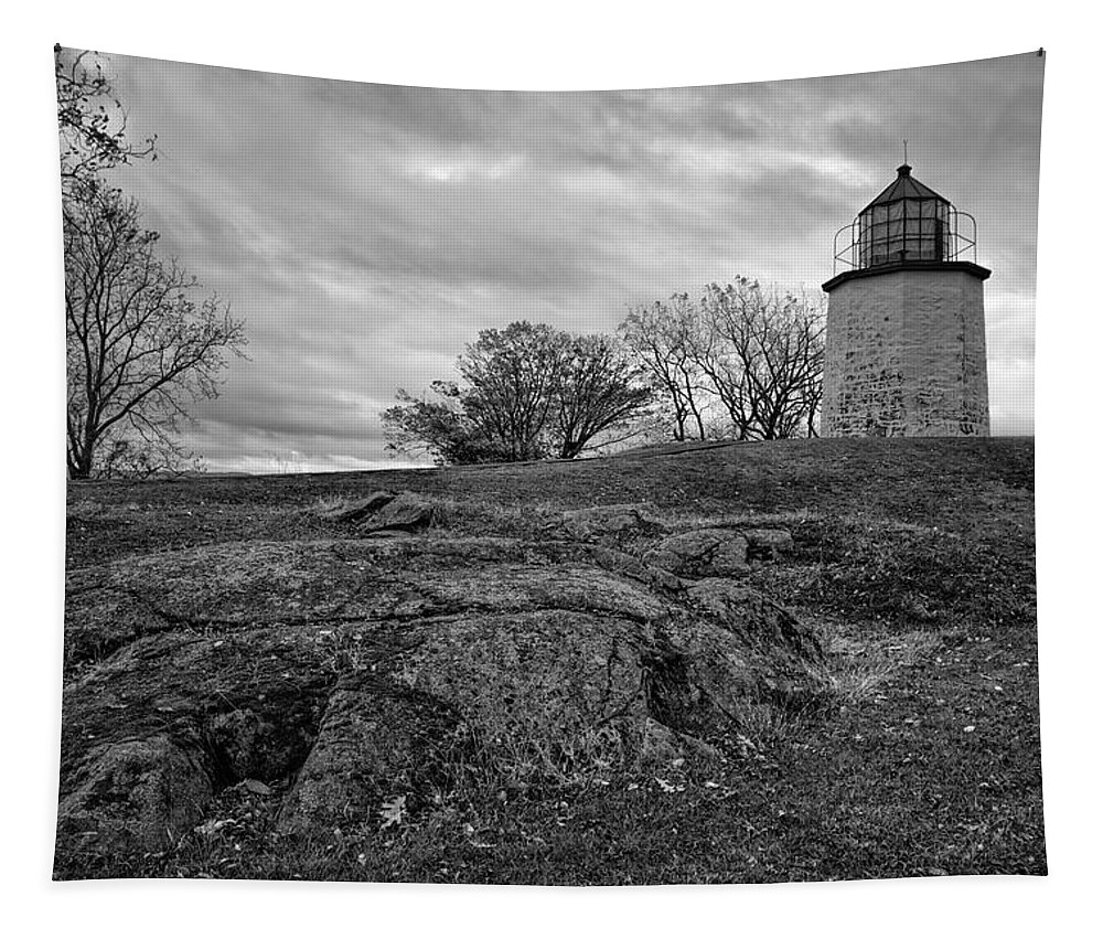 Joan Carroll Tapestry featuring the photograph Stony Point Lighthouse by Joan Carroll