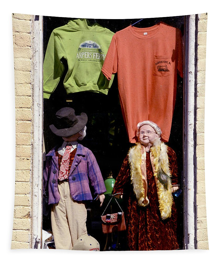 Harpers Ferry Tapestry featuring the photograph Store Dolls by Paul W Faust - Impressions of Light