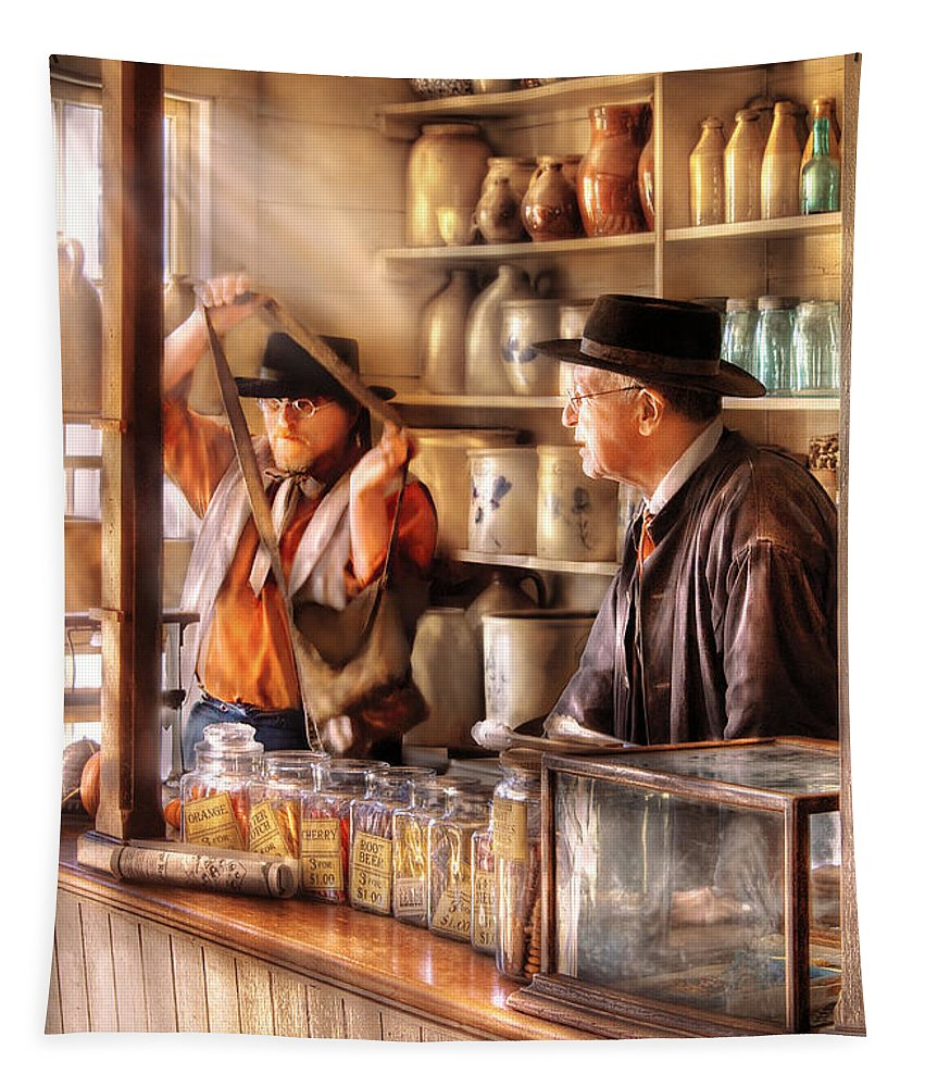 Savad Tapestry featuring the photograph Store - The Messenger by Mike Savad