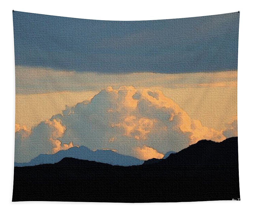 Storm Passing By Tapestry featuring the photograph Storm Passing By by Tom Janca