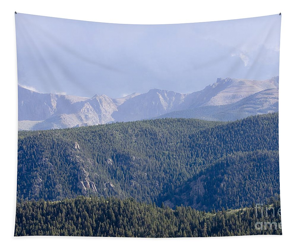 Beautiful Tapestry featuring the photograph Stormy Pikes Peak by Steve Krull
