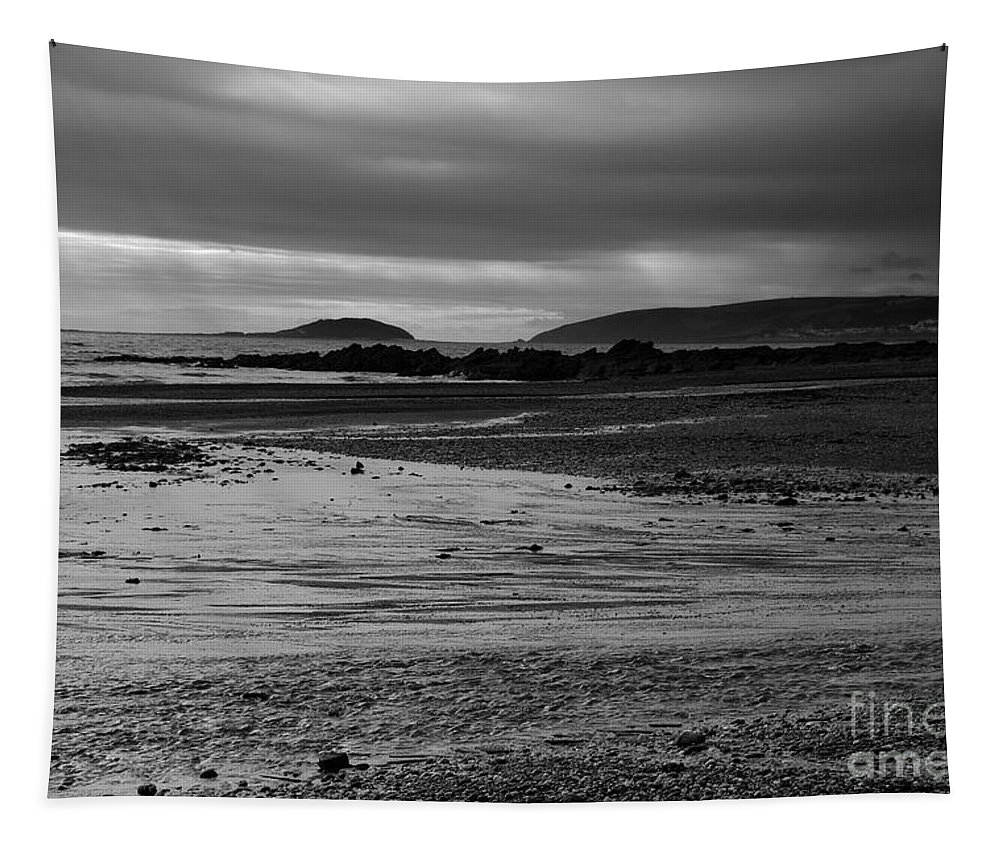 Photography Tapestry featuring the photograph Stormy Skies At Seaton Sands by Wendy Wilton