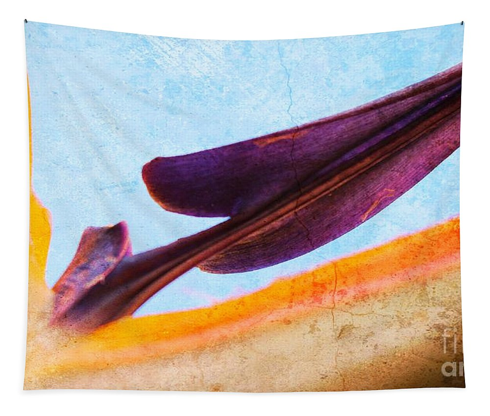 Strelitzia Reginae Tapestry featuring the photograph Strelitzia Abstract by Clare Bevan