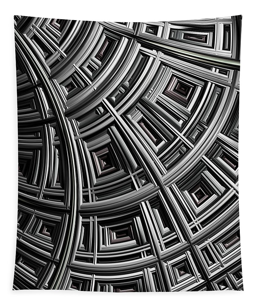 Mesh Tapestry featuring the digital art Structure by John Edwards