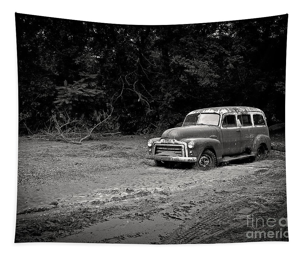 Vintage Tapestry featuring the photograph Stuck In The Mud by Edward Fielding