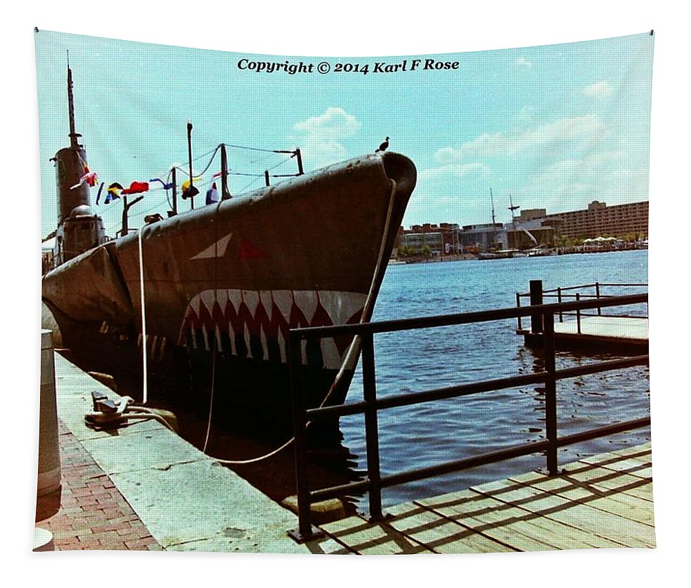 Submarine Tapestry featuring the photograph Submarine by Karl Rose