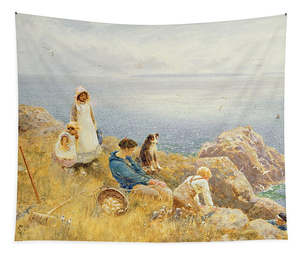 Coast Tapestry featuring the painting Summer Frolic by Thomas James Lloyd
