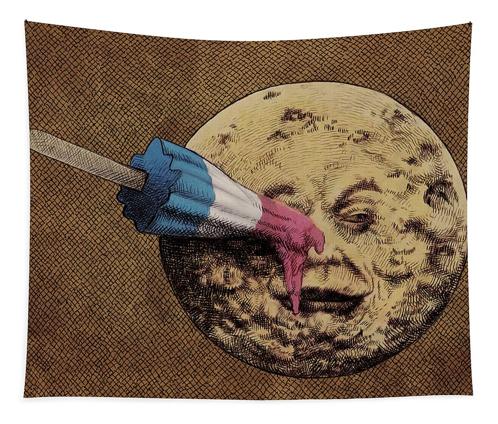 Moon Tapestry featuring the drawing Summer Voyage by Eric Fan