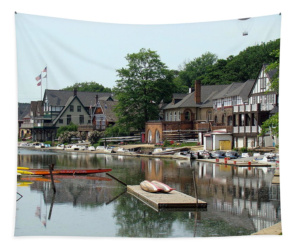 Boathouse Row Tapestry featuring the photograph Summertime On Boathouse Row by Alice Gipson
