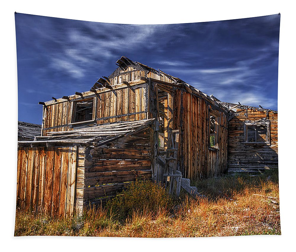 Summitville Tapestry featuring the photograph Summitville Fixer-upper by Priscilla Burgers