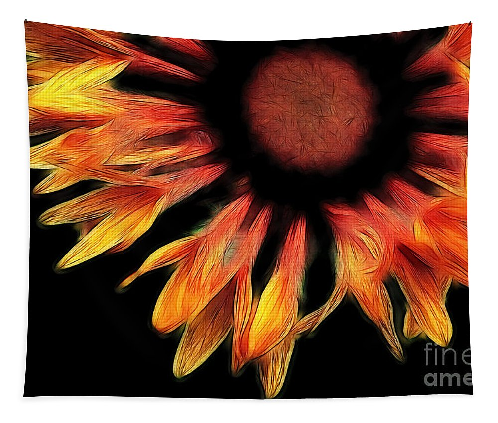 Flower Tapestry featuring the photograph Sun Worshipper by Bob Christopher