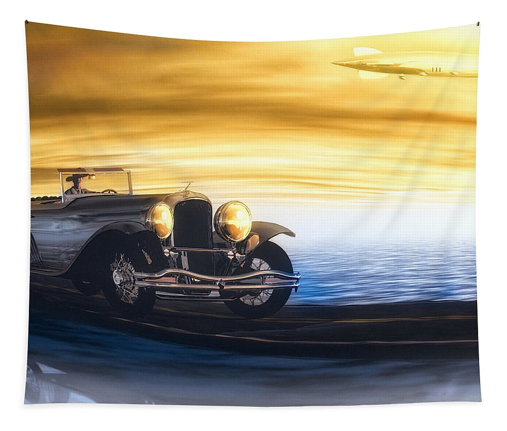 Automobile Tapestry featuring the photograph Sunday Drive by Bob Orsillo