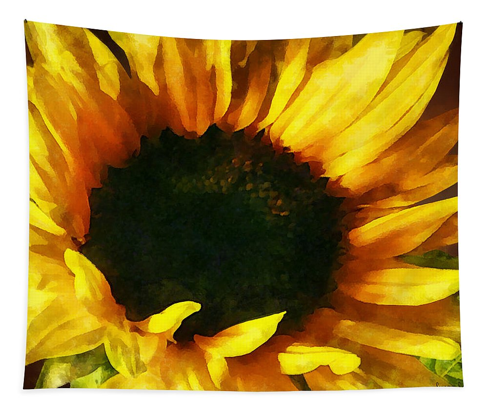 Sunflower Tapestry featuring the photograph Sunflower Shadow And Light by Susan Savad