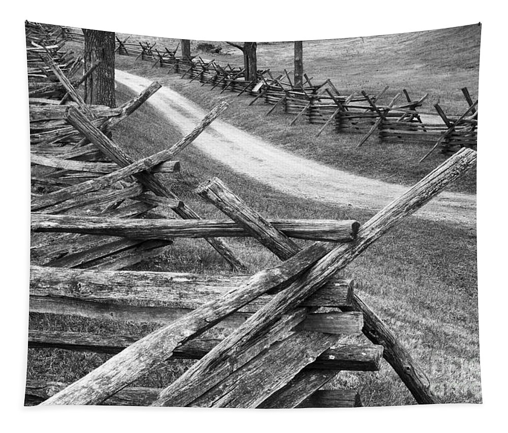 Antietam Tapestry featuring the photograph Sunken Road - Bw by Paul W Faust - Impressions of Light