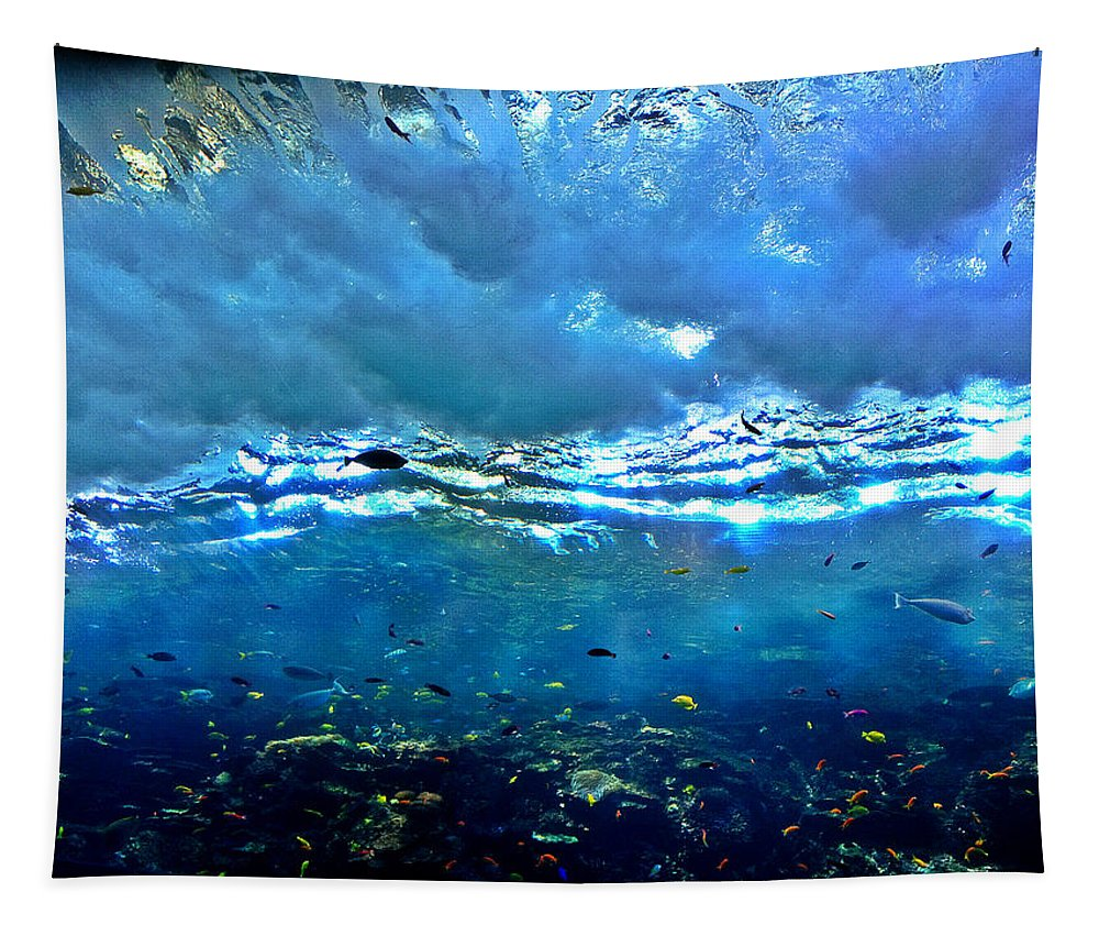 Sunlit Wave Tapestry featuring the photograph Sunlit Wave by Dan Sproul