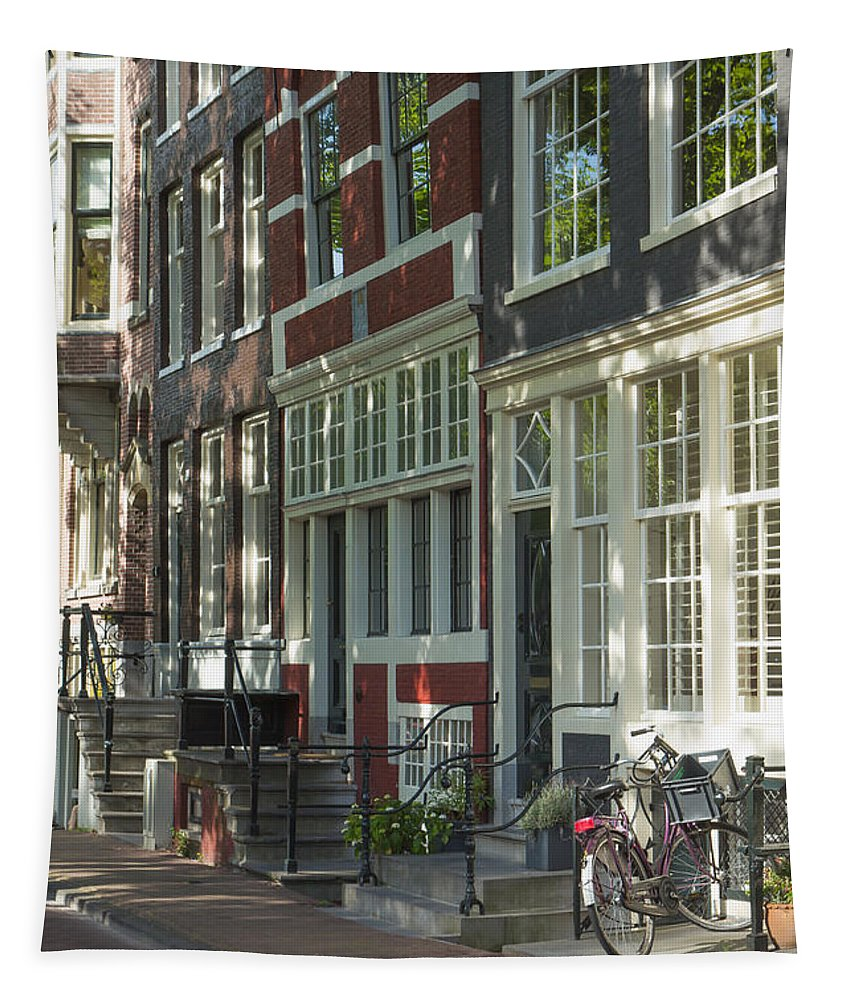 Amsterdam Tapestry featuring the photograph Sunny Street In Amsterdam by Jaroslav Frank