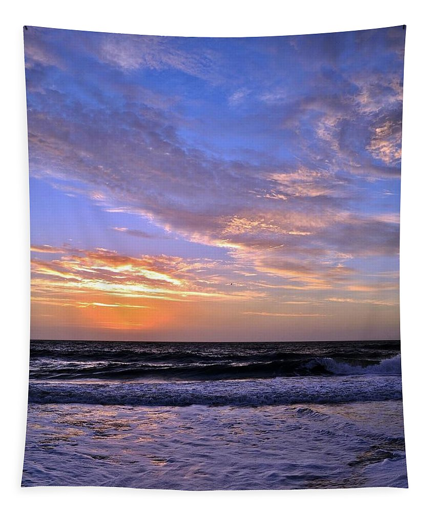 Sunrise Tapestry featuring the photograph Sunrise Cloudshadows by Kim Bemis