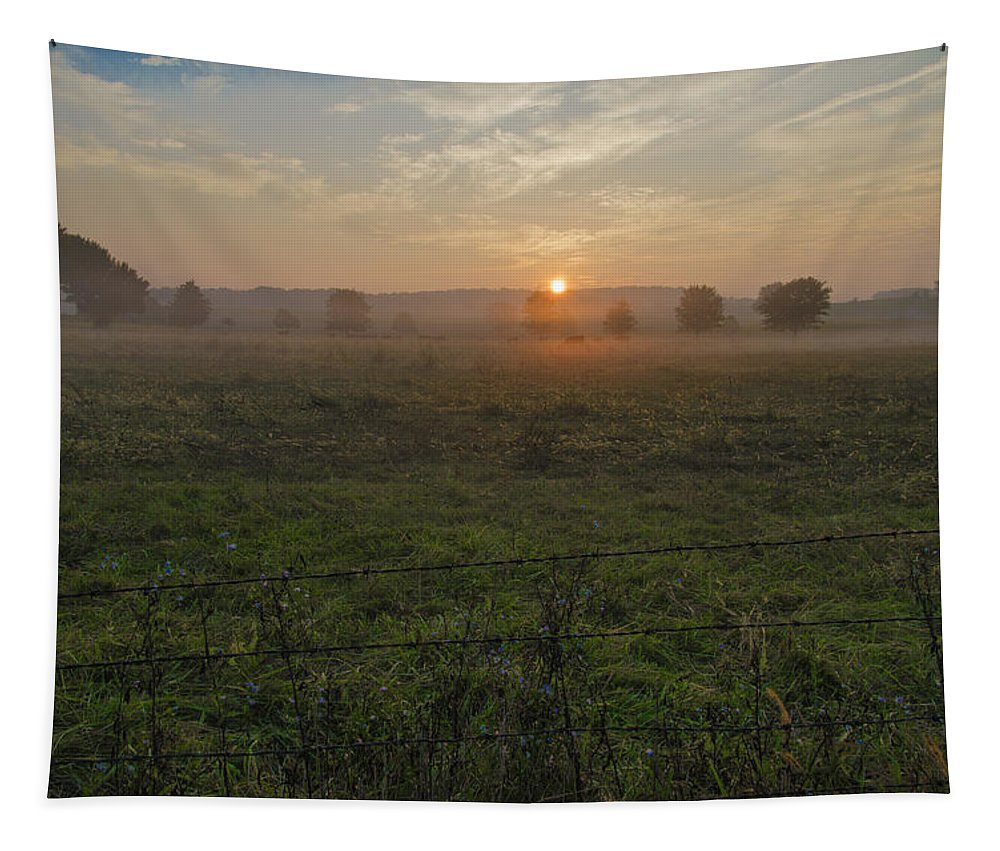 Sunrise Tapestry featuring the photograph Sunrise On A New Day by Bill Cannon