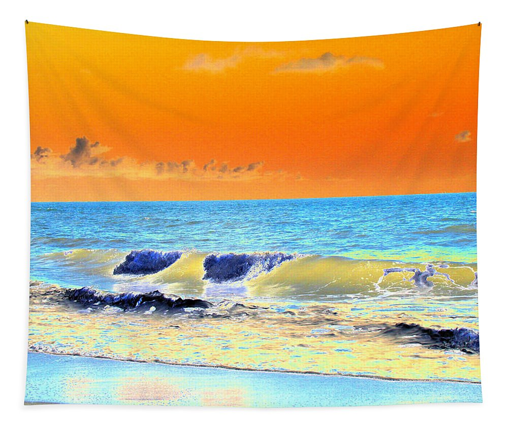 Tybee Island Tapestry featuring the photograph Sunrise On Tybee Island - Photopower 168 by Pamela Critchlow
