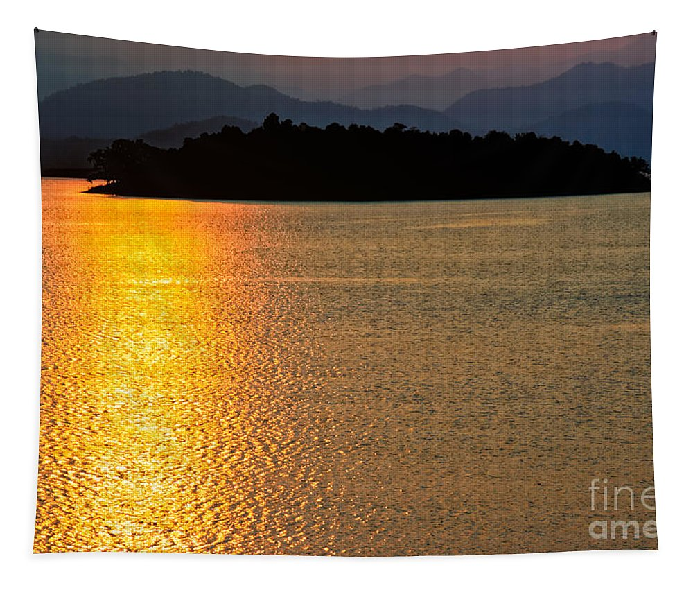 Asia Tapestry featuring the photograph Sunset Asia by Adrian Evans