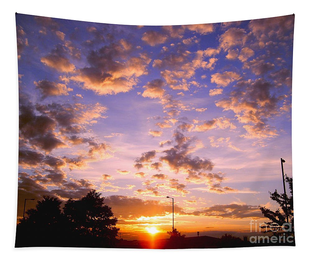 Sunset Tapestry featuring the photograph Sunset Clouds by Nina Ficur Feenan