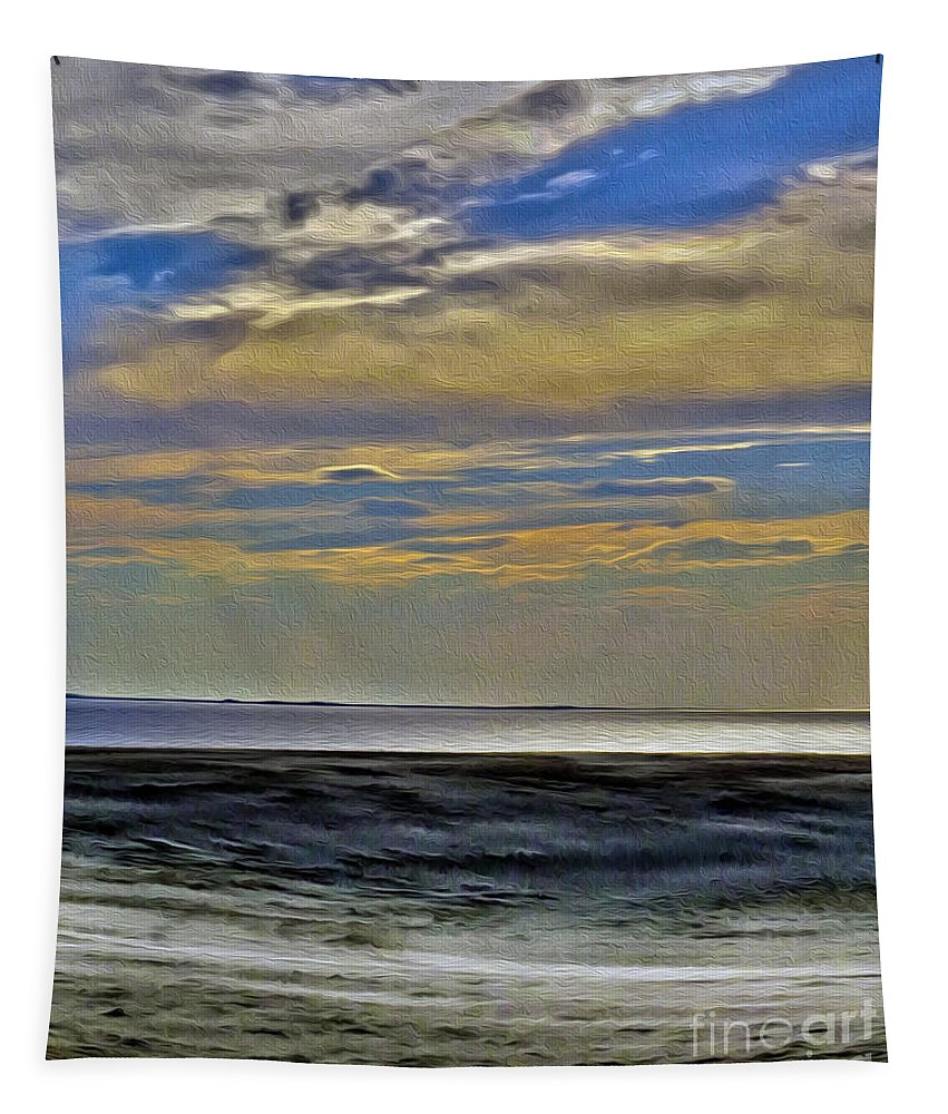 Nature Tapestry featuring the photograph Sunset From The Top Of The Dunes by Dawn Gari