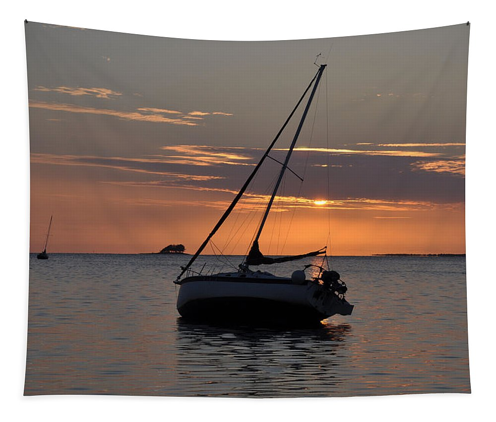 Sunset Tapestry featuring the photograph Sunset On The Gulf by Bill Cannon