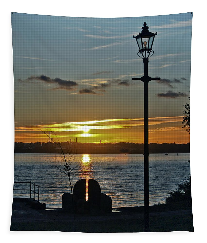 Southampton Water Tapestry featuring the photograph Sunset Over The Solent by Terri Waters