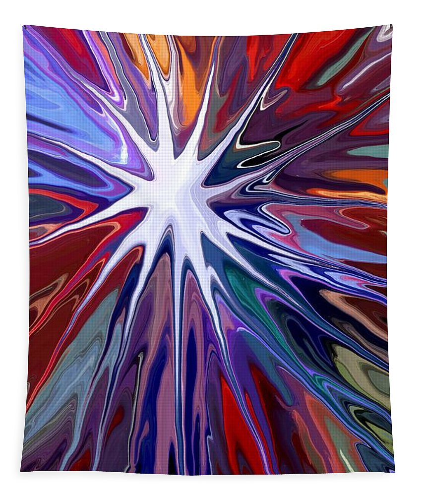Supernova Tapestry featuring the digital art Supernova by Chris Butler