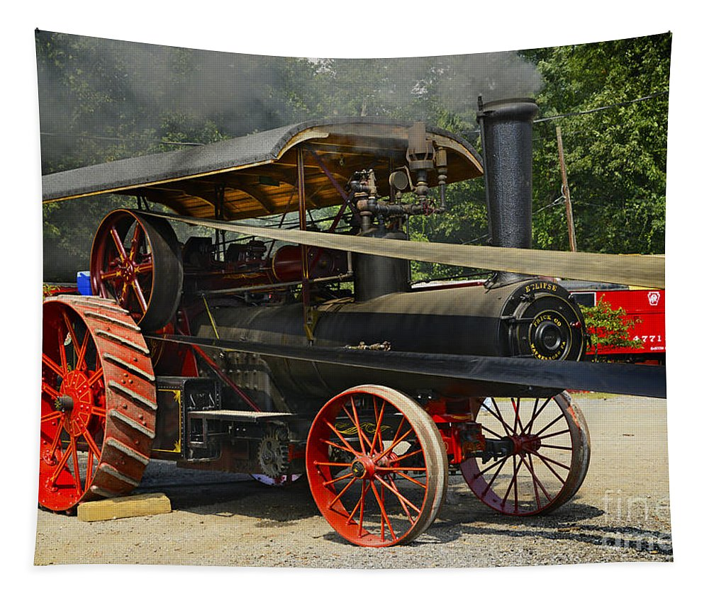 Tractor Tapestry featuring the photograph Supplying The Power by Paul W Faust - Impressions of Light
