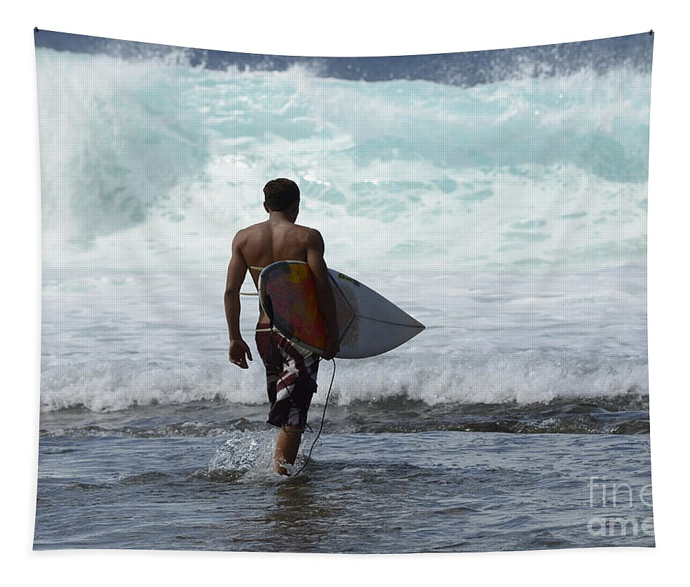 Surf Tapestry featuring the photograph Surfing Brazil 3 by Bob Christopher