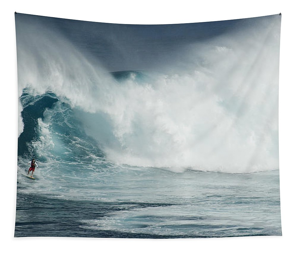 Extreme Sports Tapestry featuring the photograph Survival Mode by Bob Christopher