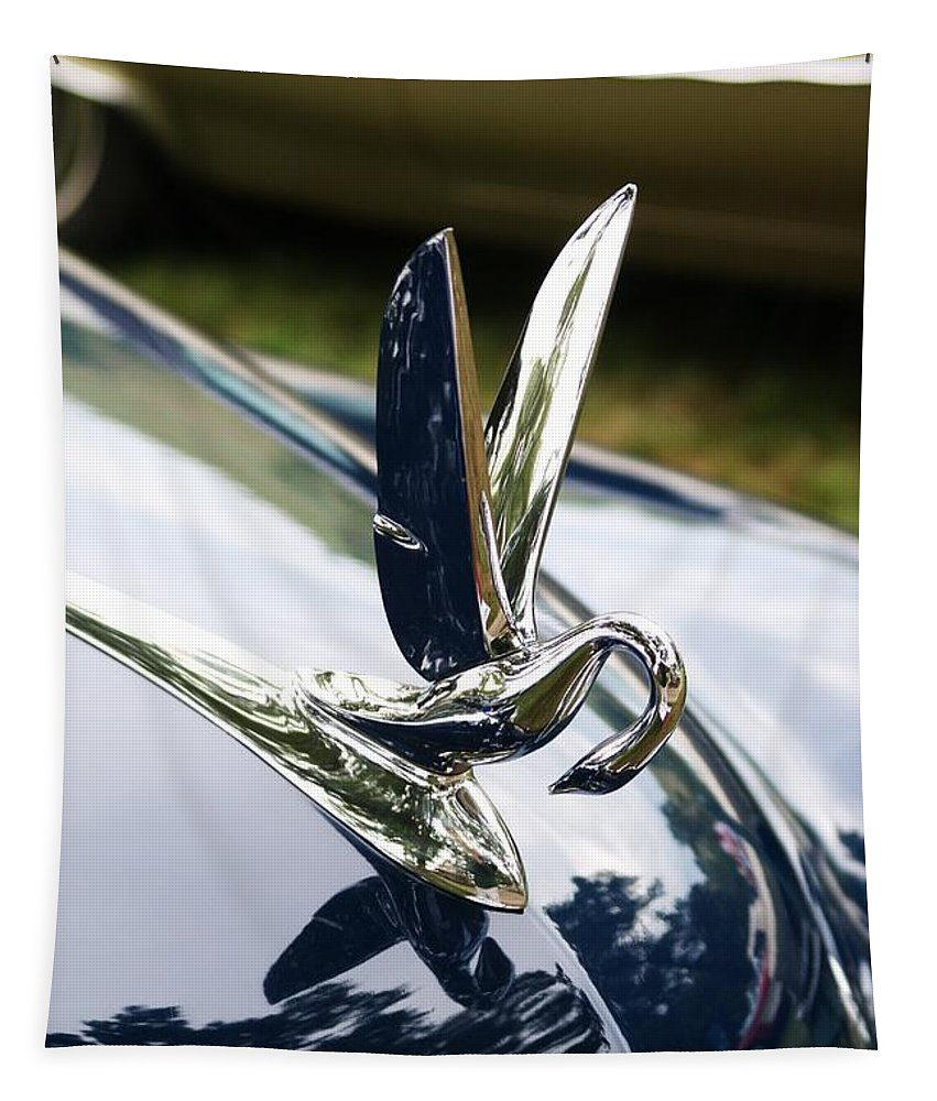 Hood Ornament Tapestry featuring the photograph Swan Hood Ornament by Neil Zimmerman